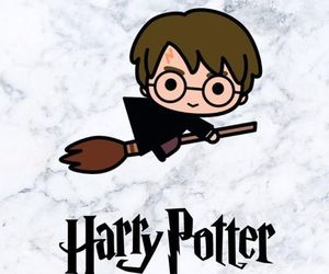 chibi, wallpaper, and harry potter image