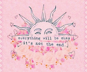 quotes, pink, and sun image