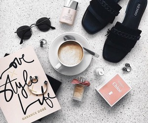 style, coffee, and fashion image