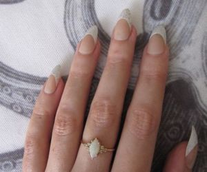 engagement ring, marquise, and rose gold ring image