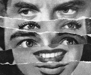 b&w and eyes image