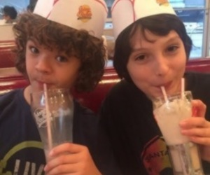 dustin, mike, and stranger things image