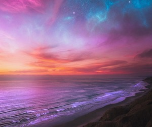 beach, landscape, and colors image