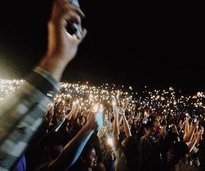 concert, light, and black image