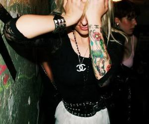 tattoo, chanel, and blonde image