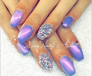 coffin, purple, and nails gel image