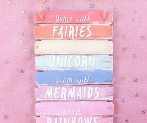 Fairies and unicorn image