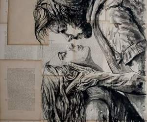 love, couple, and art image