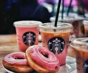 coffe, eat, and starbucks image