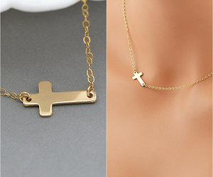 etsy, minimalist, and rose gold cross image