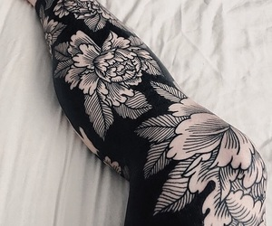 flower, tattoo, and blackwork image