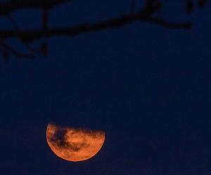 dark, red moon, and moon image