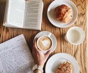 books, cafe, and writing image