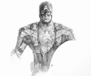 art, captain america, and drawing image