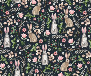 animal, bunny, and forest image
