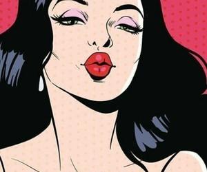 pop art, kiss, and art image