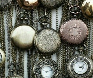 clock, victorian, and silver image