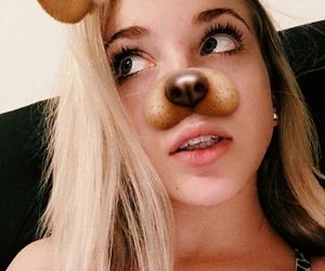 blonde, dog filter, and filter image