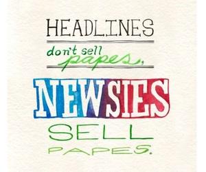 newsies and headlines image
