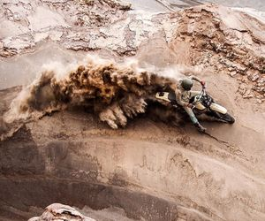 beige, motorcycle, and sand image