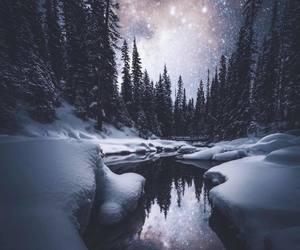 landscape, nature, and stars image