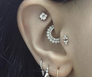 piercing, daith, and tragus image