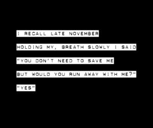 black, Lyrics, and november image