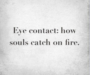 eye contact and fire image