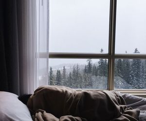 winter, bed, and sleep image