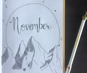 november, bujo, and bullet journal image