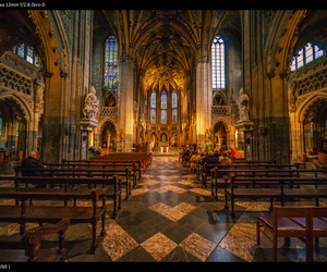 architecture, belgium, and cathedral image