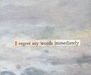 quotes, text, and regret image