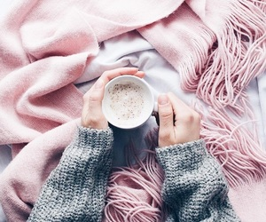coffee, pink, and winter image