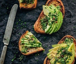 food, avocado, and toast image