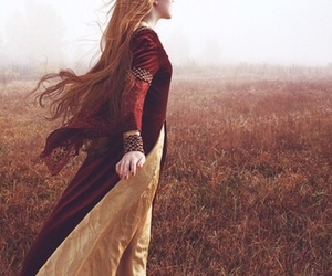 girl, dress, and medieval image