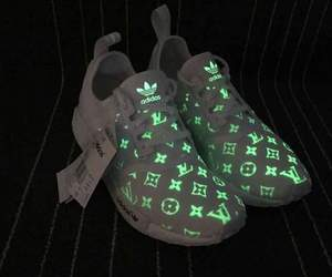 adidas, glow in the dark, and shoes image
