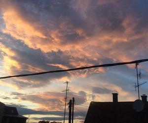 cloud, sunrise, and sunset image