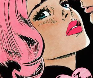 pop art, comic, and pink image