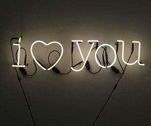 love, neon, and I Love You image