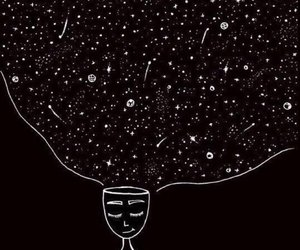 art, black, and space image