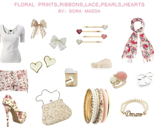 fashion, floral, and hearts image