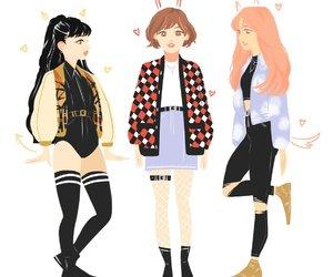 fanart, girl, and v image