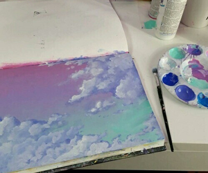 art, sky, and colour image