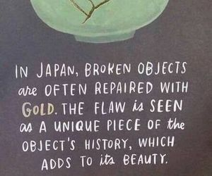 quotes, gold, and broken image