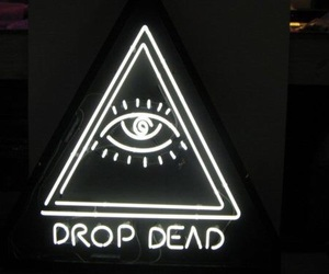 light, drop dead, and grunge image