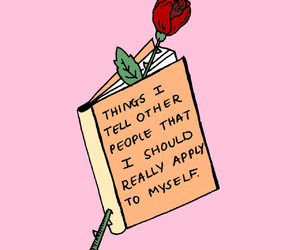 book, quotes, and rose image