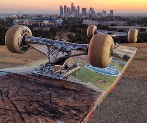 picture, sunset, and skateboard image