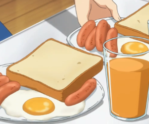 anime, food, and breakfast image