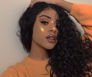 beauty, curls, and highlight image