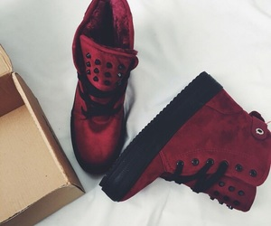 boots, red, and red boots image